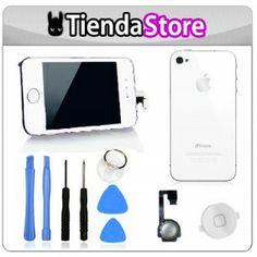 Kit de conversion iPhone 4S BLANCO (varios colores) Pantalla y tapa trasera + kit herramientas