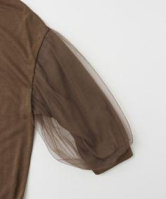 URBAN RESEARCH WOMENS(アーバンリサーチウィメンズ)のUR 袖チュールプルオーバー(Tシャツ/カットソー)|詳細画像