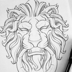 Mind Blowing Wood Working Jigs Ideas - New ideas Tattoo Design Drawings, Tattoo Sketches, Drawing Sketches, Art Drawings, Lion Rasta, Lion Sketch, Lion Head Tattoos, Fu Dog, Grafiti