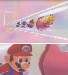 Mario sees a Peach in a pipe Lol Memes, Crazy Funny Memes, Really Funny Memes, Stupid Memes, Funny Relatable Memes, Haha Funny, Funny Jokes, Memes Mario, Mario Funny