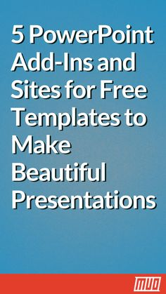Take advantage of these sites, guides, and add-ins to create a gorgeous PowerPoint presentation that wows your audience. Create Powerpoint Presentation, Powerpoint Tips, Powerpoint Template Free, Presentation Skills, Microsoft Powerpoint, Computer Lessons, Computer Class, Computer Help, Computer Tips