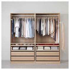 Furniture. Compact Pax Wardrobe Ikea System For Easy Clothes Organizing Ideas. Marvelous Clothes Portable Wardrobe Design Using Oak Stained Pax Wardrobe Ikea System Featuring Two Section Hanging Clothes Rack And Four Pull Out Drawers With Towel Racks Ideas. .