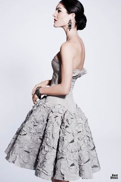 ZAC POSEN F/W 12', with sleeves and pretty bodice, cute cut and how skirt is low, jut to knees....for M.