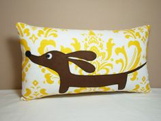 Doxie Dachshund Dog Pillow  Doxie in the by persnicketypelican, $26.50