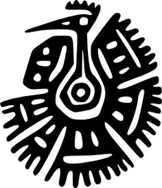 Discover the secret meaning of the mysterious Bird Symbols. Pictures and meanings of Native American Indian signs including the Bird Symbols. The Bird Symbols meaning. Tribal Drawings, Tribal Art, Geometric Art, Art Design, Graphic Design Art, Art Péruvien, Feather Meaning, Motifs Aztèques, Aztec Symbols