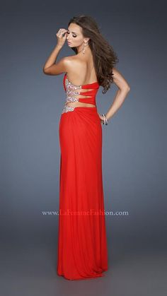 { 18771 | La Femme Fashion 2013 } La Femme Prom Dresses - Top Style - Red - Peek-a-boo side - Sweetheart - Sexy