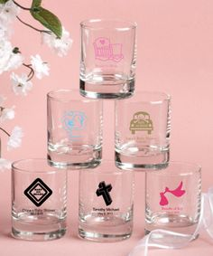Round shot glass/votive candle holder Available at Lady Slipper Stationery  $1.50+