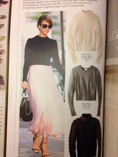 Cropped sweater with flowy skirt