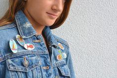 CREA CON NOI: LE SPILLE DISEGNATE Tutorial, Jackets, Fashion, Down Jackets, Moda, Fashion Styles, Jacket, Fasion