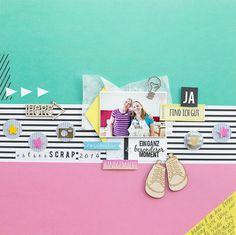 Scrapbooking Layout con FRIDA por Janna Werner - del equipo de diseño del libro de recuerdos Taller