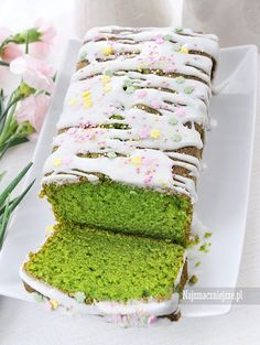 Ciasto szpinakowe Sweet Recipes, Cake Recipes, Dessert Recipes, Easy Blueberry Muffins, Afternoon Tea Cakes, Different Cakes, Polish Recipes, Sweet Bread, No Bake Desserts