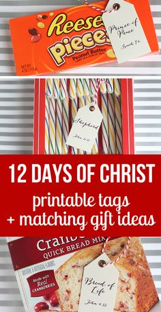 12 days of Christ- a Christ-centered 12 Days of Christmas idea that's simple and cute- with printable tags