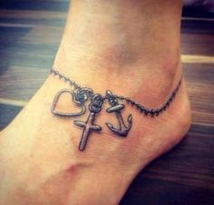 faith love cross anchor - 30 Inspiring Faith Tattoos <3 <3