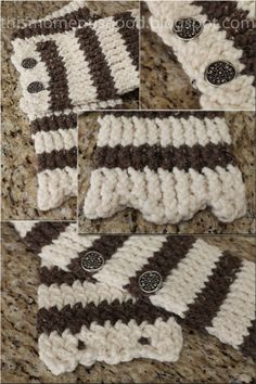 LOOM KNIT SCALLOPED SCARF