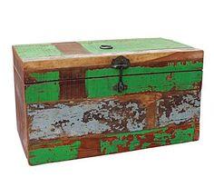MUEBLES RECICLADOS: Baúl horizontal en teca reciclada – multicolor