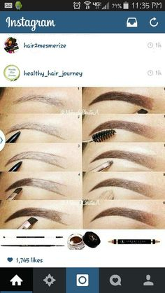 Perfect Eyebrows Made Easy With Semi Permanent Make Up Eyebrow Makeup Tips, Skin Makeup, Beauty Makeup, Makeup Eyebrows, Makeup 101, Makeup Goals, Makeup Inspo, Makeup Inspiration, Perfect Brows