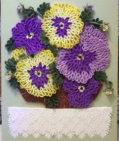 flower paper quilling - pansies