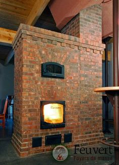 Masonry Heater...I love this