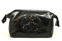 Black Peace Cosmetic Case www.Silverhooks.com