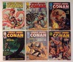 Savage Sword of Conan The Barbarian Comic Book Magazine Lot 23 24 25 26 27 28