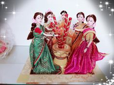 Let's do it grandly Gauri Decoration, Wedding Doll, Pooja Rooms, Clay Art, Wedding Season, Flower Decorations, Trays, Wedding Events, Wedding Gifts