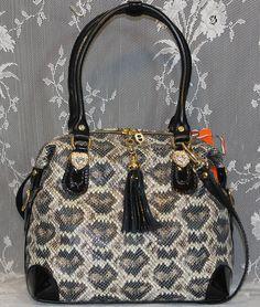 Marino Orlandi  Italy,PORCELLANA Python Embossed  Leather Sling,Purse,Bag - NWT #MARINOORLANDI #SatchelHandbagSling