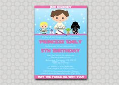 Star Wars Birthday Invitation for girls   by SwishPrintables, $15.00