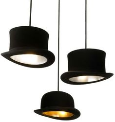 Who wouldn't want these over them?  I must have these for my future office. (note to self- do this with grandmother's hats in my Diva Den!)
