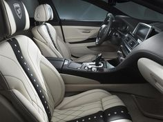 Photographs of the 2013 Hamann 6 Series Gran Coupe. An image gallery of the 2013 Hamann 6 Series Gran Coupe. Car Interior Upholstery, Automotive Upholstery, Car Interior Design, Automotive Design, Luxury Interior, My Dream Car, Dream Cars, Inside Car, Bmw 6 Series