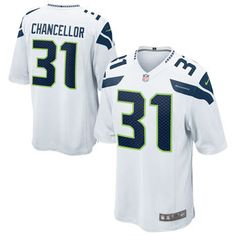 80393629401 Kam Chancellor Seattle Seahawks Nike Youth Game Jersey - White Nfl Seattle