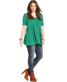 babydoll top for plus sizes | stylin' niece | pinterest | tops