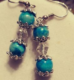 Blue Lace Crazy Agate Earrings