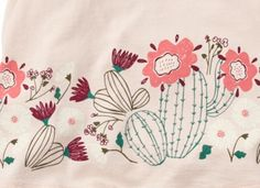 Cactus Flower Graphic Tee Shirt for Baby Girls | Tea Collection