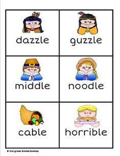 FREE Gobble! Gobble! Thanksgiving Final Stable Syllables...This is a fast paced game using the final stable syllables: ble, cle, dle, fle, gle, kle, ple, tle, and zle. Students draw cards one a time. If they decode the word correctly, they keep it. If they read it incorrectly, it goes back into the stack. Watch out for the turkey card. He will gobble up all of your cards, and you must start over.