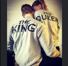 Couples King & Queen Hoodies and Sweatshirt Set by AlphaApparelCo Cute