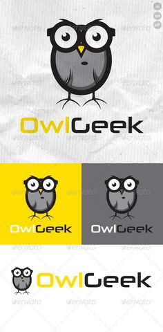 Buy OwlGeek Logo by vectorlogo on GraphicRiver. OwlGeek is a cute owl illustration wearing geeky glasses. It uses simple shading to create depth and would be suitabl.