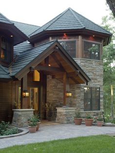 Dark Wood Exterior Home Design Ideas, Pictures, Remodel And Decor