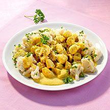 Curry-Pute mit Blumenkohl ist eine tolle Symbiose