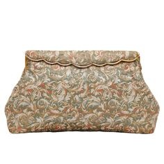 1950s Josef Lame Clutch Bag | From a collection of rare vintage clutches at https://www.1stdibs.com/fashion/handbags-purses-bags/clutches/