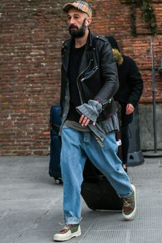 Ugly Outfits, Lit Outfits, Mode Masculine, Best Leather Jackets, Riders Jacket, Casual Street Style, Stylish Men, Look Cool, Leather Fashion