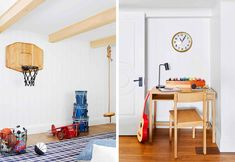 7 Things to Consider When Designing a Big Kids Playroom - Emily Henderson Design - 7 Things to Consider When Designing a Big Kids Playroom Rompus Room Side By Side - Kids Playroom Colors, Kid Playroom, Kid Rooms, Bonus Rooms, Playroom Decor, Playroom Ideas, Kids Decor, Ikea Bed, Bohemian Bedroom Decor