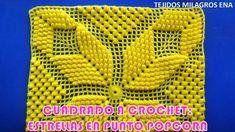 Cuadrado o Muestra ESTRELLA POPCORN a crochet paso a paso para colchas y...