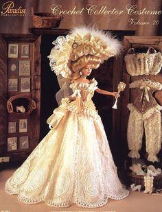 1901 Victorian Trousseau Lingerie Paradise #70 for Barbie Crochet PATTERN NEW