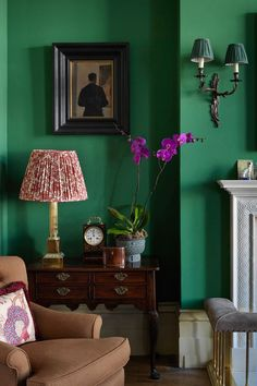 "[i]A corner of the living room features framed artwork.[/i] Like this? Then you'll love [link url=""http://www.houseandgarden.co.uk/interiors/furnishings/paint-101""]Paint 101[/link]"