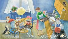 """""""Making gingerbreads"""" by Ilon Wikland"""