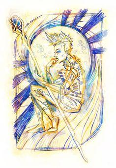 "Inquisitor Lavellan 5"" x 7"" Prismacolor Sketch Art Print #Lavellan #DragonAgeInquisition #LemonWatercolor #dai"