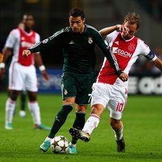 Siem de Jong, Ajax. & Cristiano Ronaldo, Real Madrid  | Ajax 1-4 Real Madrid. 03.10.12.