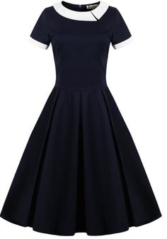 Retro Panel Ball Dress - Purplish Blue S Vintage Outfits, Vintage Style Dresses, Vintage Fashion, 1950s Fashion, Victorian Fashion, Ladies Fashion, Vintage Clothing, Ball Gown Dresses, Dress Up