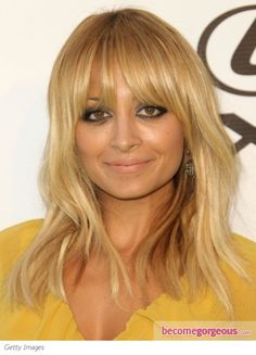 Nicole Richie Layered Hair with Bangs - Nicole Richie Hairstyles Pictures