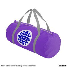 Your Custom Duffle Gym Bag, Purple with Silver straps